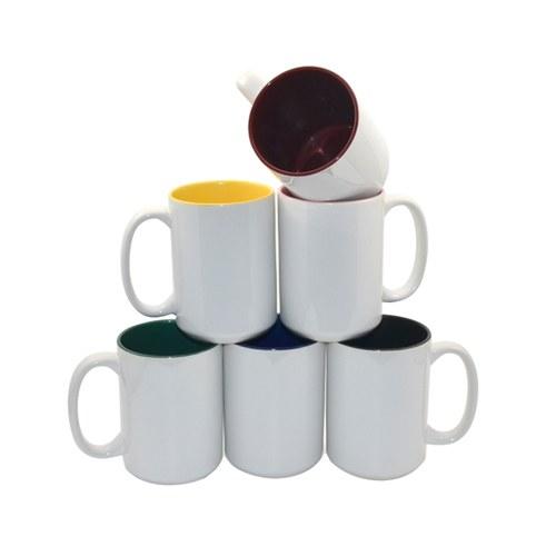 Kubek z kolorowym środkiem 450 ml