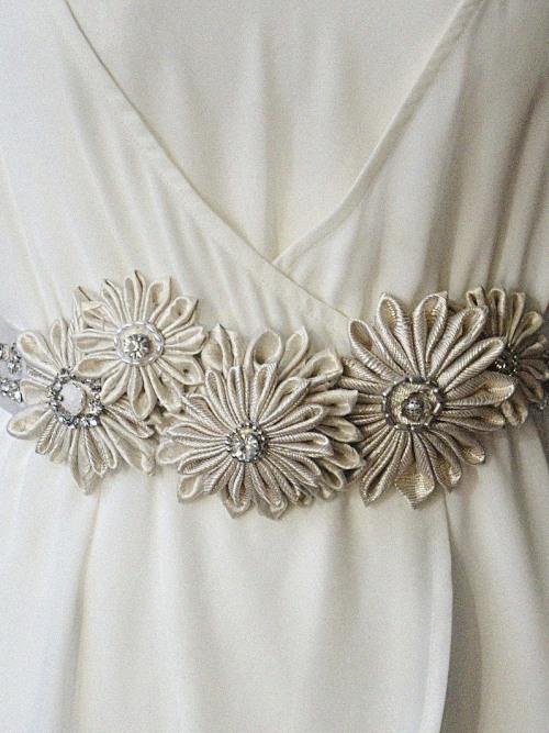 Floral bridal belt no. 2