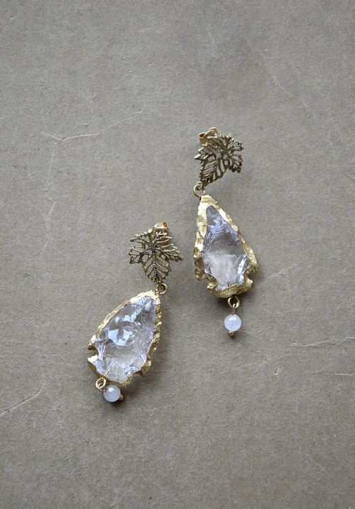 Earrings with leaves no. 399
