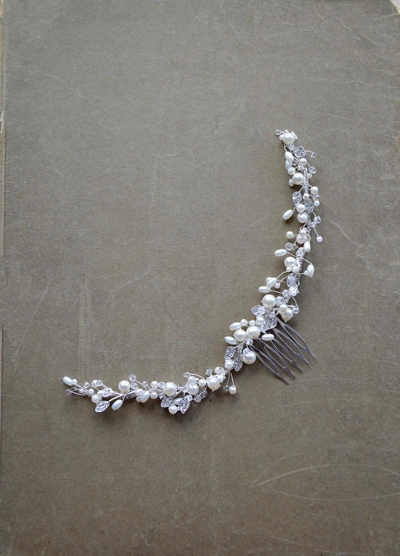 Gałązka z naturalnymi perłami numer 420