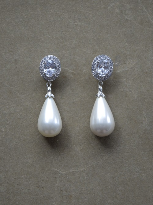 Earrings with seashell pearls no. 420