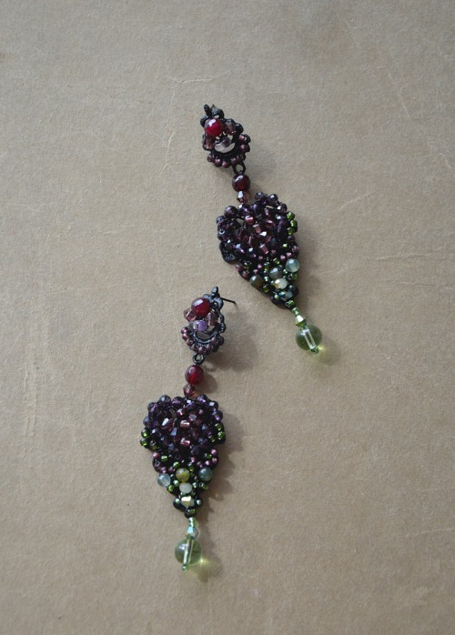 Dark earrings no. 414