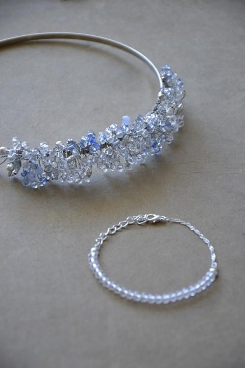 Headband with crystals no. 412