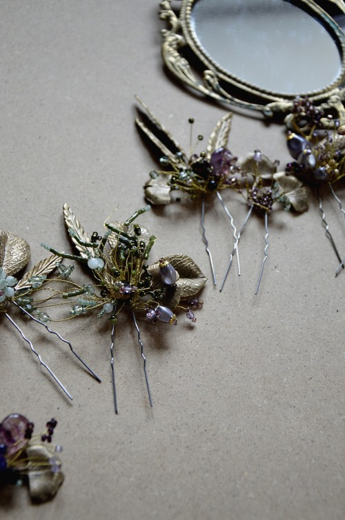 Rustic hair pins set no. 432