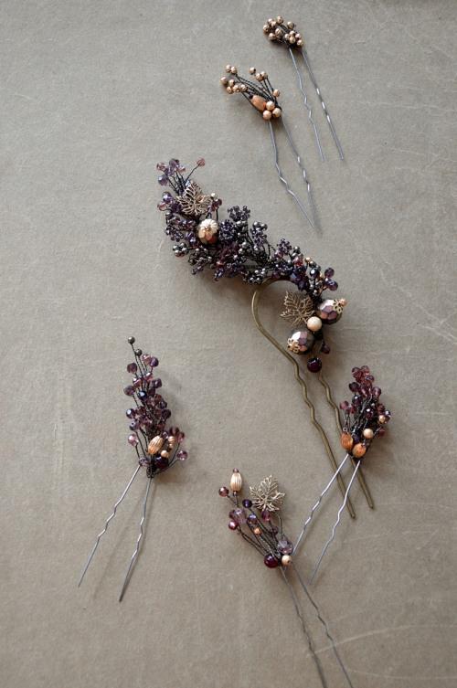 Rustic hair pin no. 415