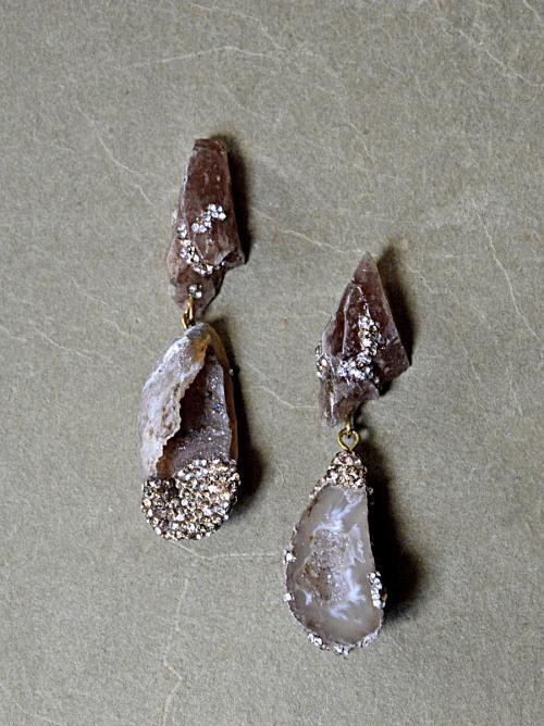Gem earrings no. 454