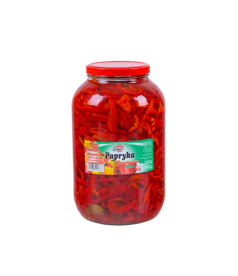Papryka konserwowa paski 3500g/ 1800g