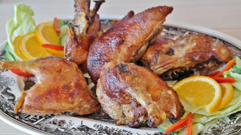Skrzydełka z kurczaka przyprawione cytryną