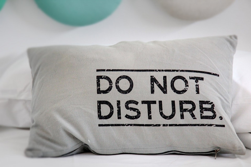 Pillow with text
